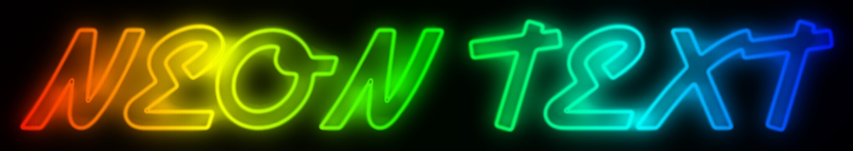 Text Effect Tutorials: Create rainbow neon text effects online for free