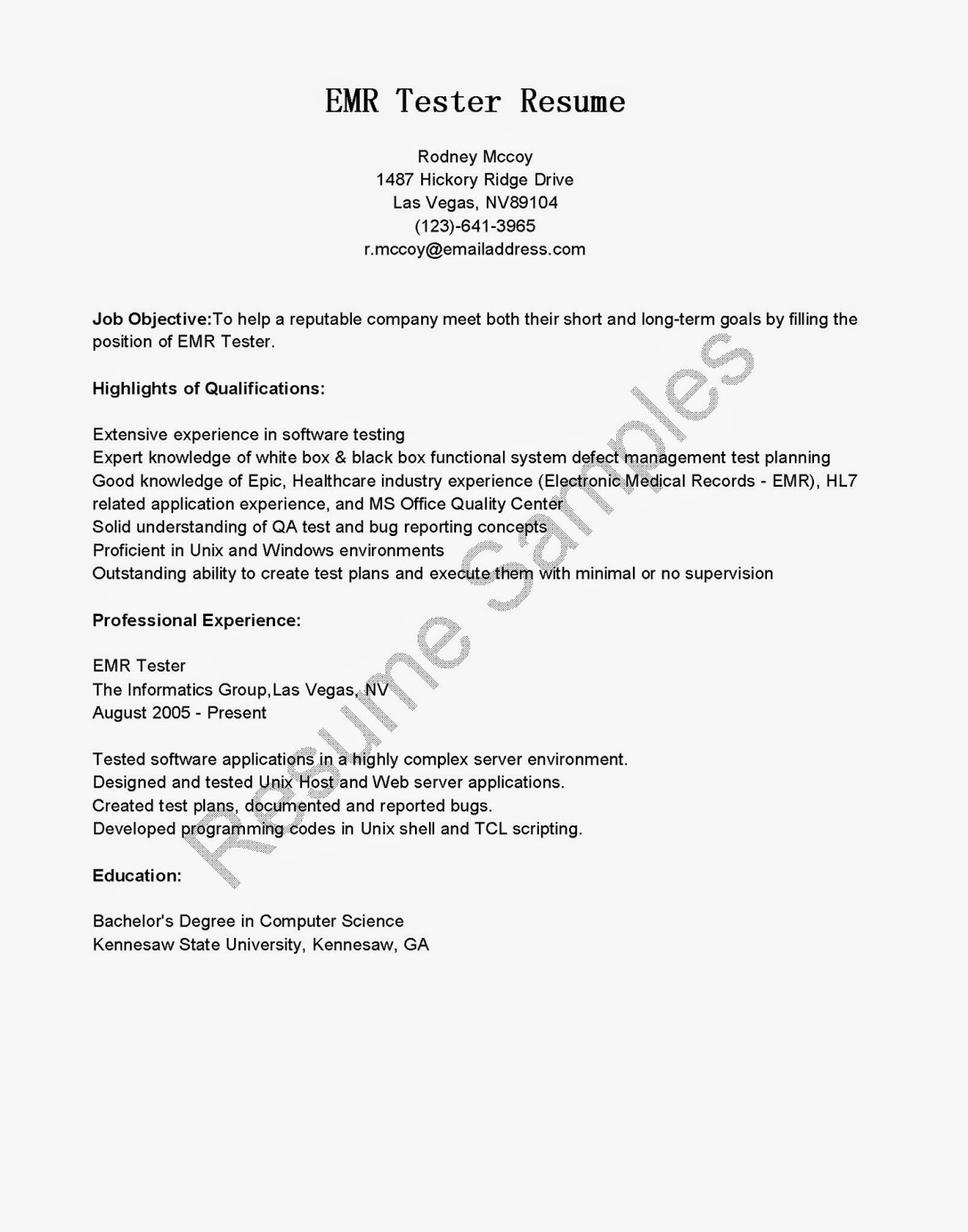 Unix Project Manager Resume Example Good Resume Template Example Good Resume  Template  How To Make A Good Resume With Little Experience