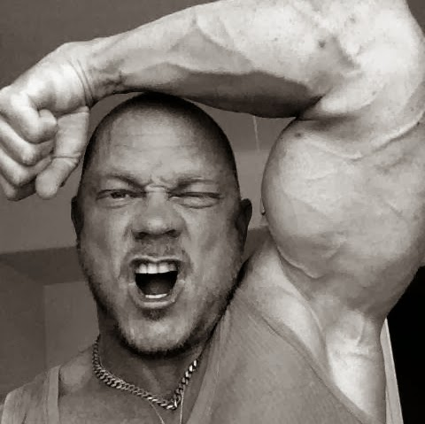 Veiny Bodybuilder's Shaved Armpits