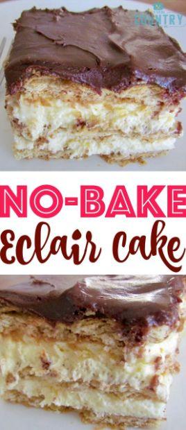 No-Bake Eclair Cake Recipe