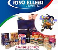Logo Vinci gratis il Baule Fantasia con forniture di prodotti Riso Ellebi
