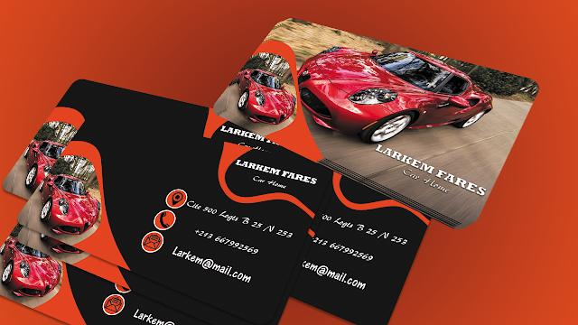 تصميم بطاقة إحترافية تجارية للسيارات Photoshop Tutorial