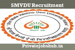 SMVDU Recruitment