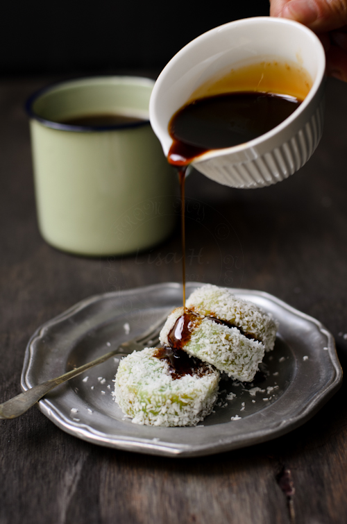 Glutinous Rice with Dark Brown Sugar Syrup recipe