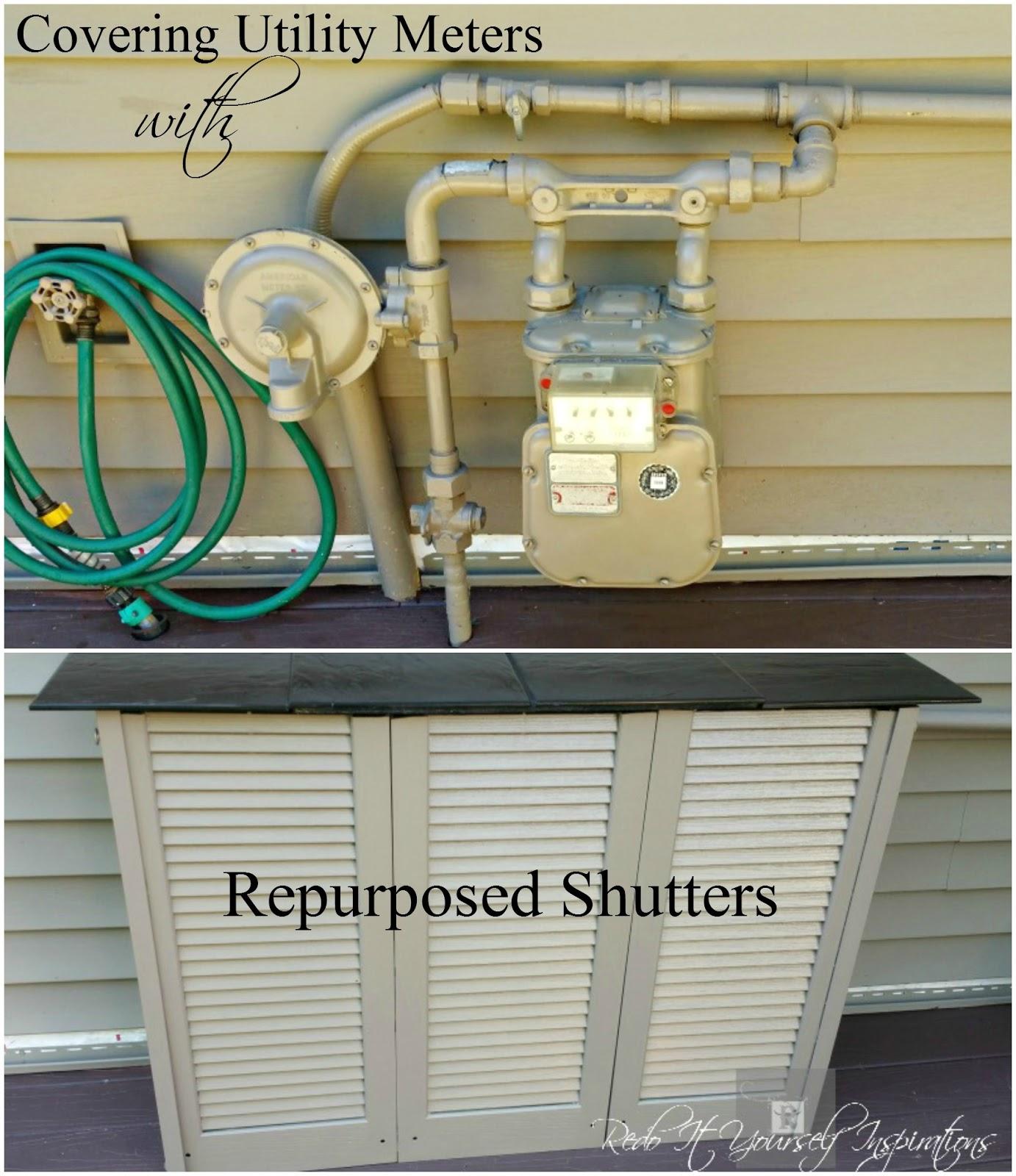 Diy Utility Meter Cover