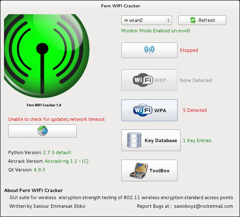 kali linux fern wifi cracker wordlist
