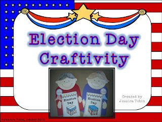 Election Day Craft- mini book attached to cute boy and girl craft