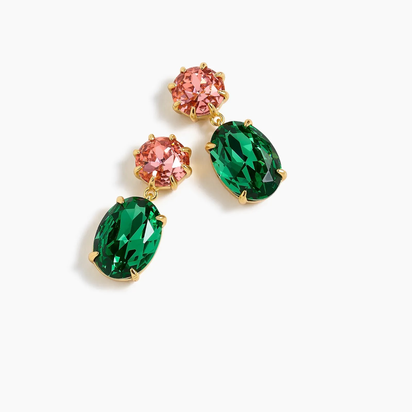 J Crew Alpine Meadow Oval-shaped stone drop earrings - statement fashion blog