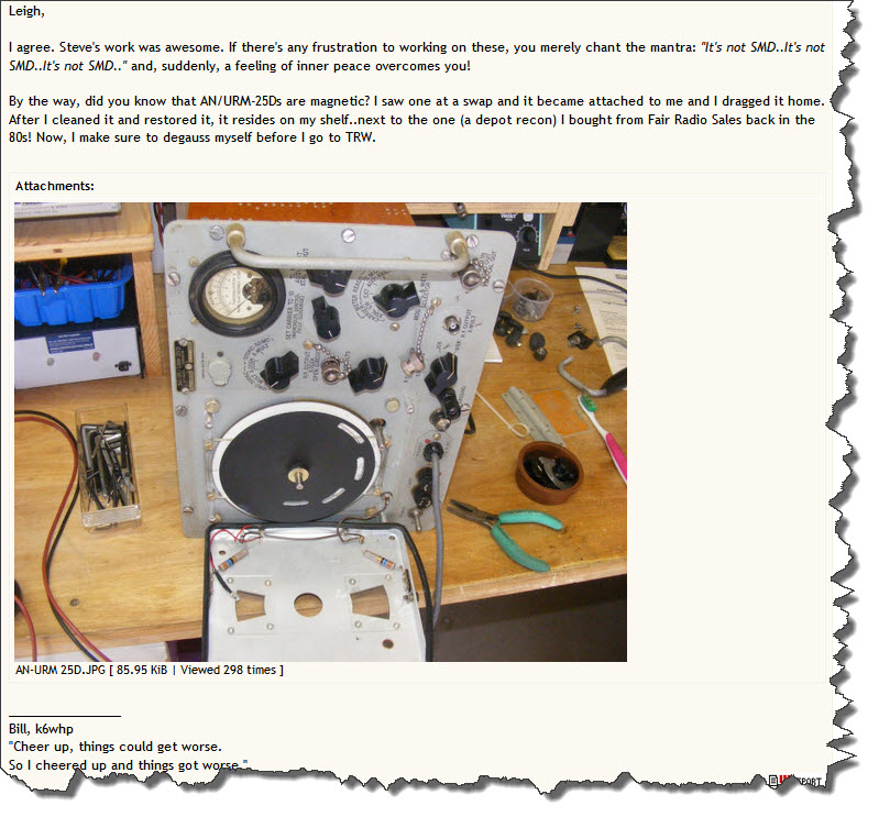 An Urm 25d Signal Generator : Right hand of zod january