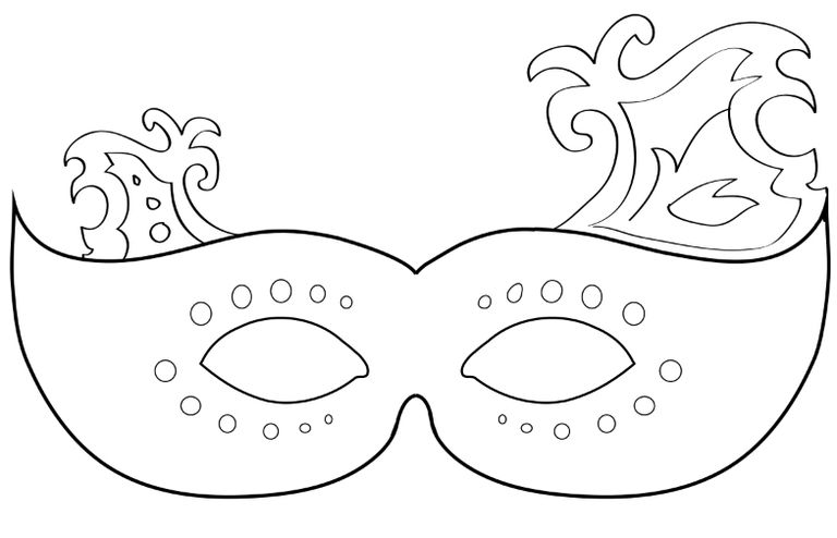 Witty image for printable mardi gras mask