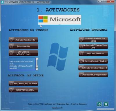 1 - TEU Todo en Uno Ver.2.0 [125 Programas] [Varios Hosts] - Descargas en general