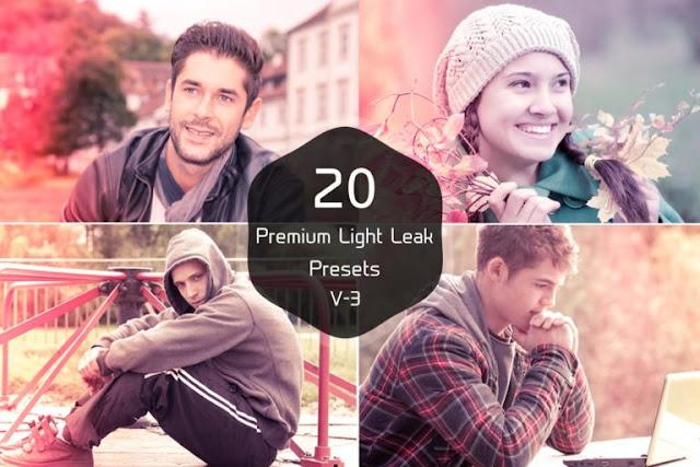 20 Free Light Leak Lightroom Presets Ver. 3-بلال ارت مصدرابداعك