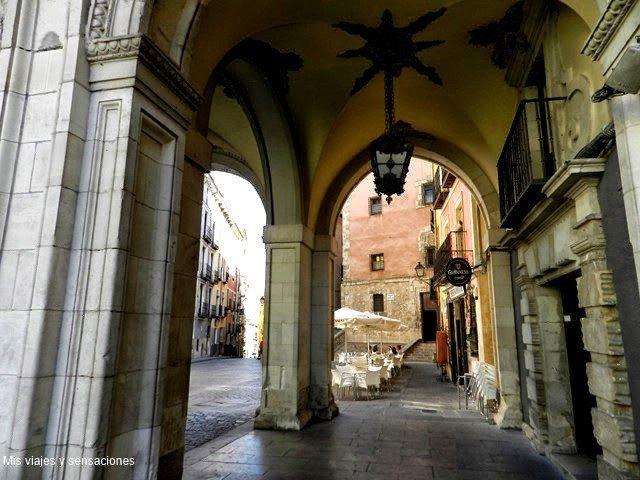 Soportales en la ciudad de Cuenca, Castilla la Mancha