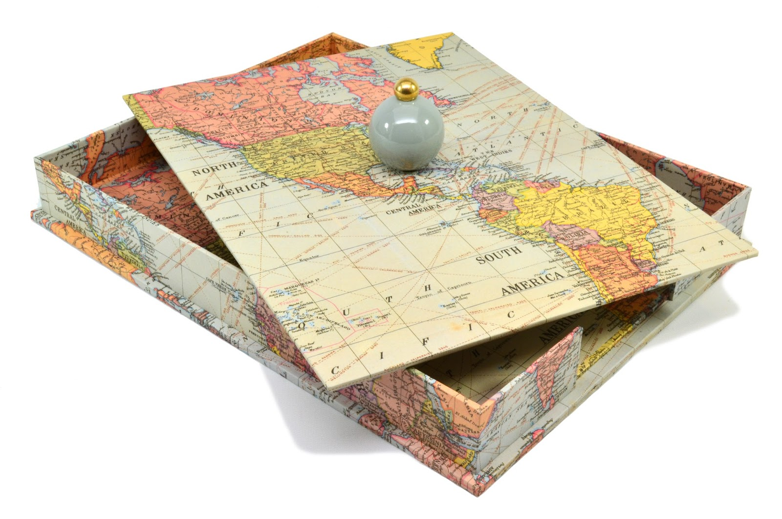 Parvum opus for this in box project we used a vintage world map design gumiabroncs Choice Image