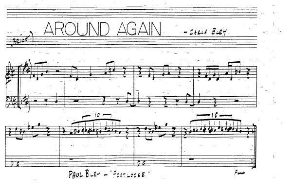 Partitura Trompeta Carla Bley
