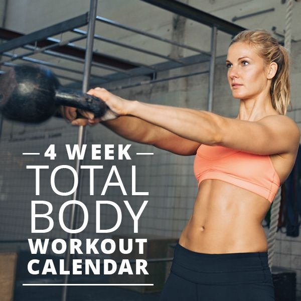 4-Week Total Body Workout Calendar