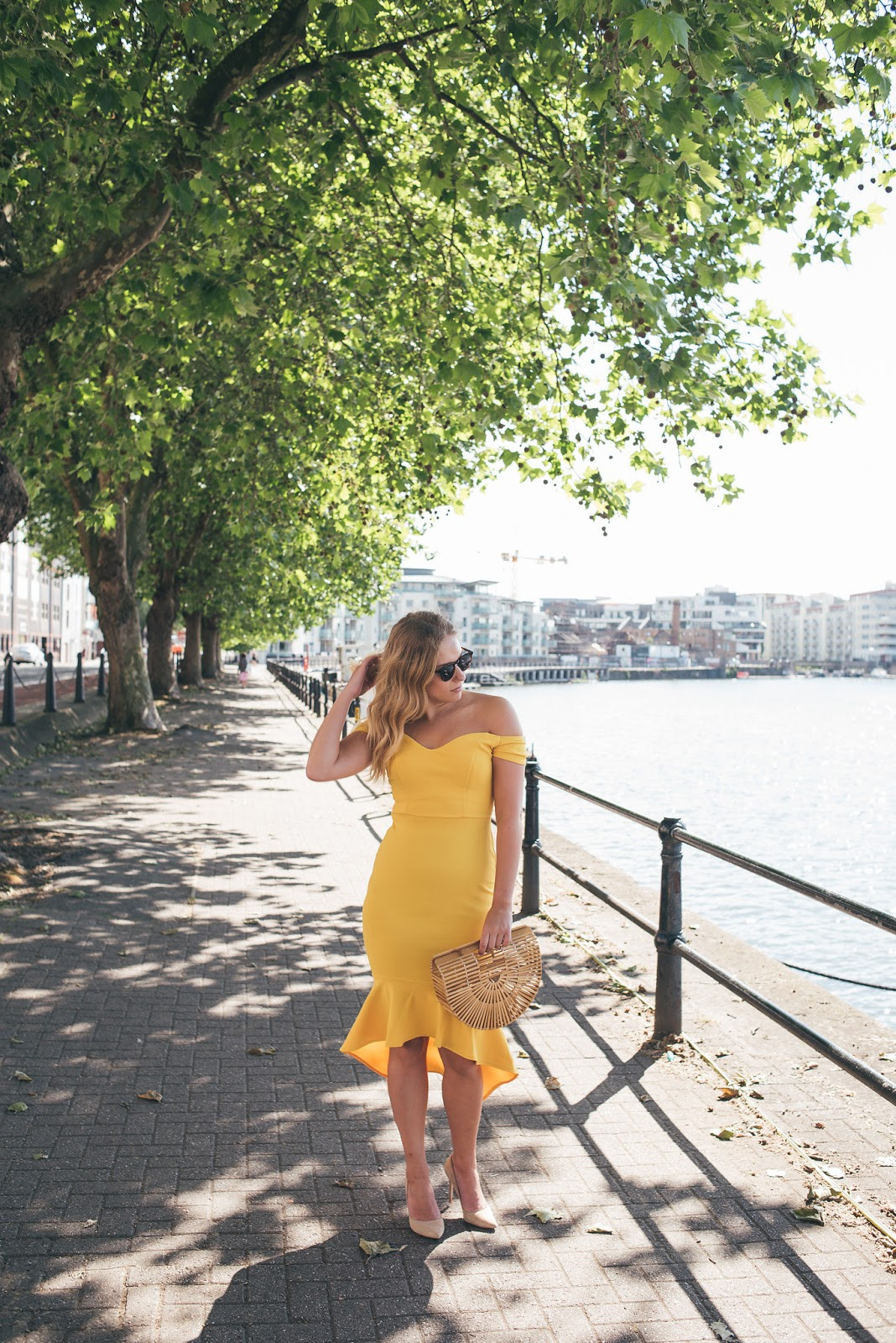 Rachel Emily by the SS Great Britain in Yellow John Zack Dress
