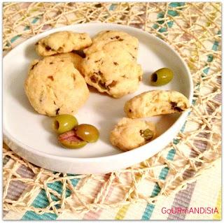 image Cookies aux olives vertes et gruyère