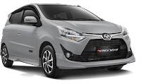 Toyota New Agya Medan silver