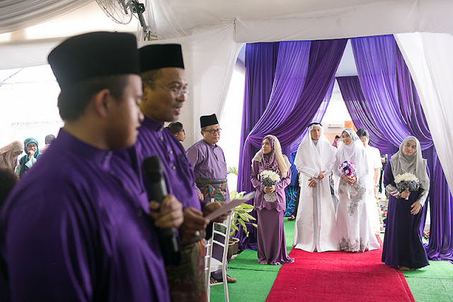 purple wedding KL