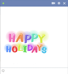 Happy Holidays Facebook Sticker