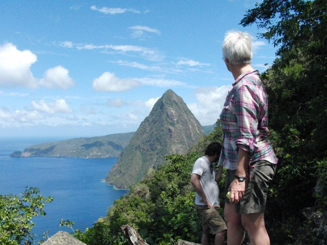 Mountain hiking st Lucia