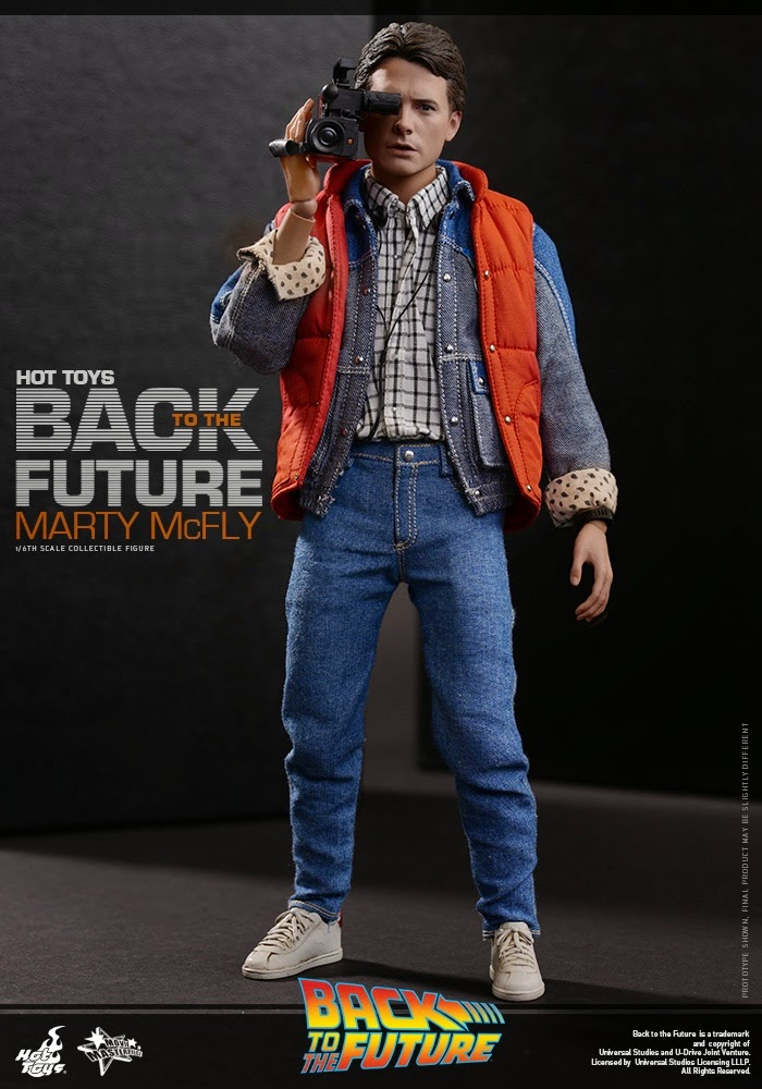 1//6 Scale Hot Toys MMS257 Back To the Future Marty Mcfly Figures Jacket