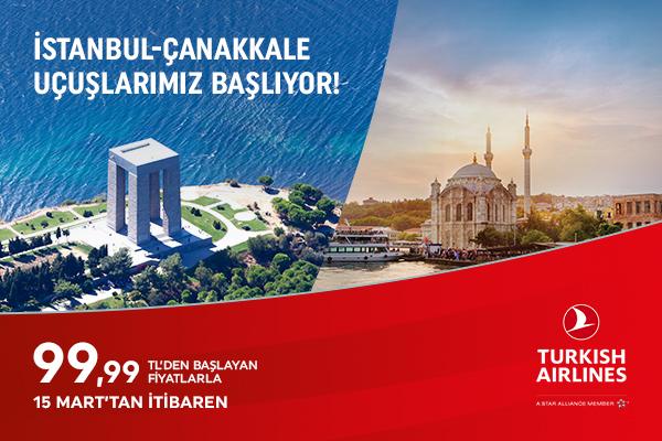 İstanbul - Çanakkale Uçak Seferleri Başlıyor