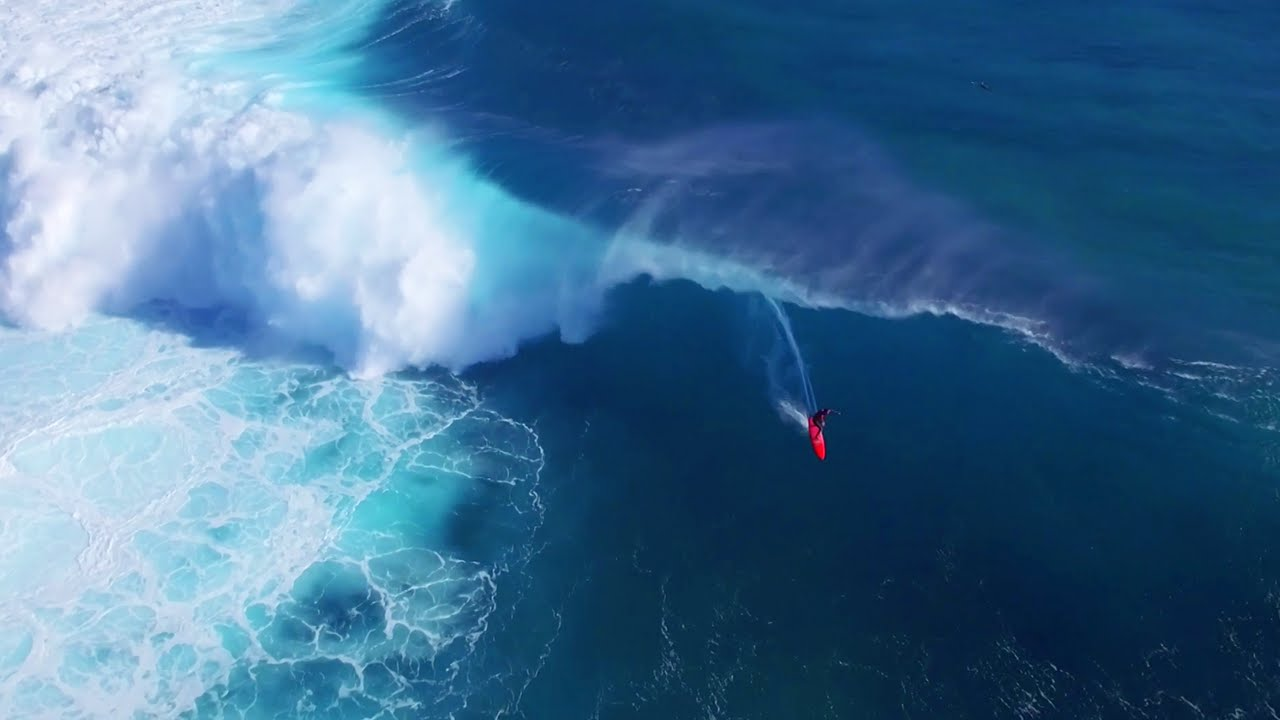 Surfing XXL Cloudbreak from Mad Monday in Fiji Drone Footage Sessions