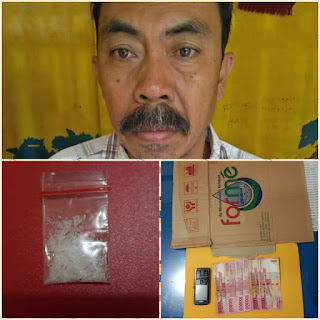 Jadi Pengedar Narkoba di Keluang, Warga Banyuasin Ditangkap Polisi