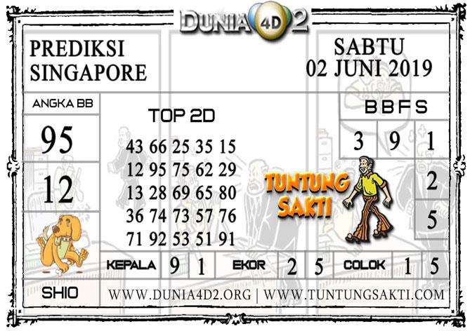"""Prediksi Togel """"SINGAPORE"""" DUNIA4D2 02 JUNI 2019"""