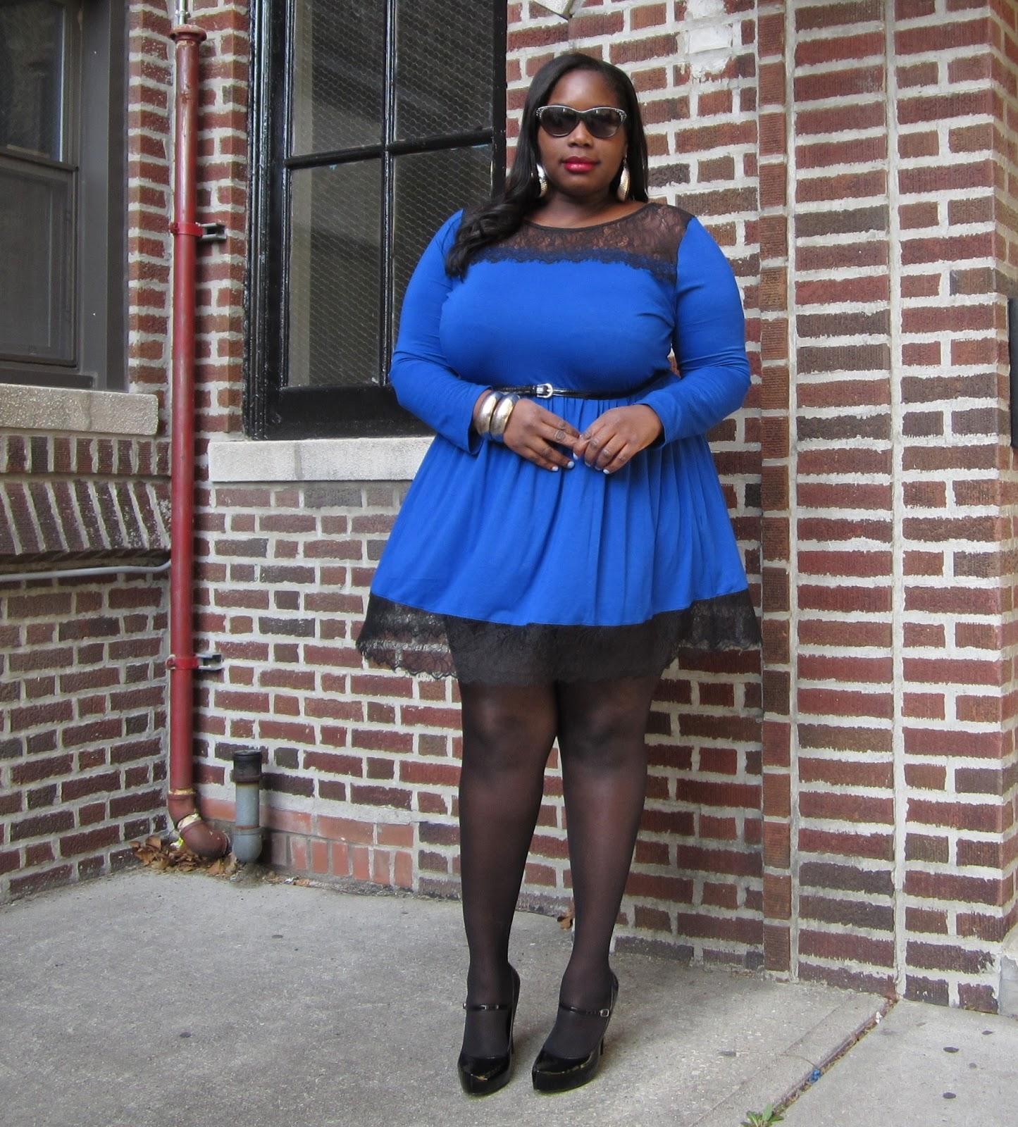 A PLUS SIZE STYLE JOURNEY  THE LITTLE BLUE SKATER DRESS  82289c6f1