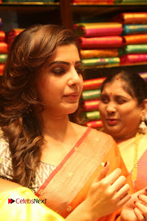 Actress Samantha Pictures in Saree at South India Shoping Mall Launch 0254