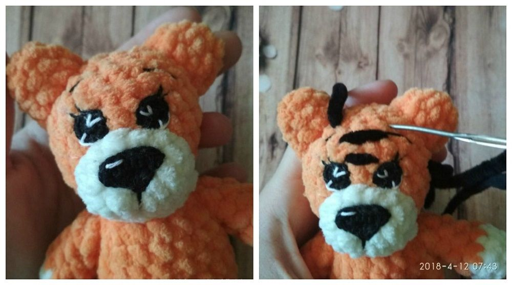 Crochet tiger amigurumi tutorial