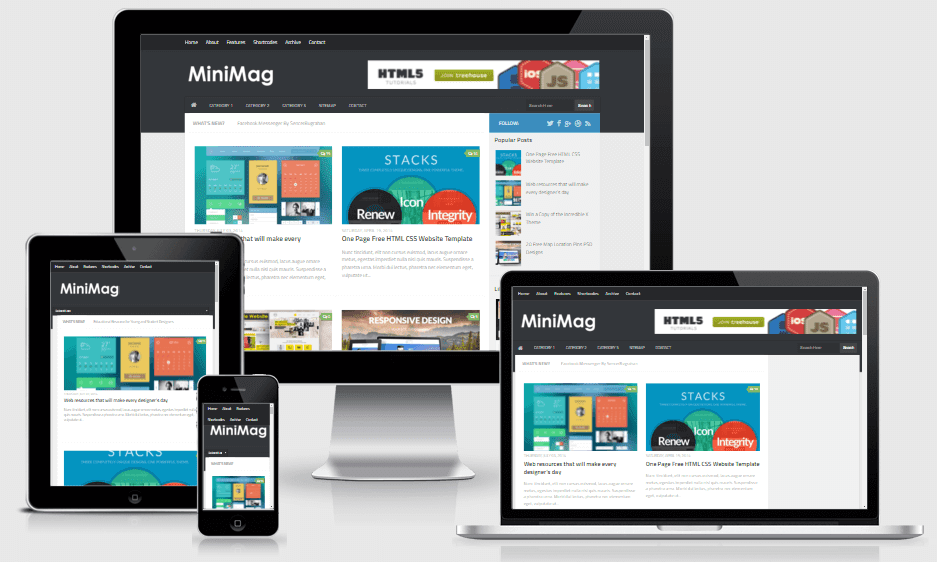 MiniMag - Responsive Magazines Blogger Template
