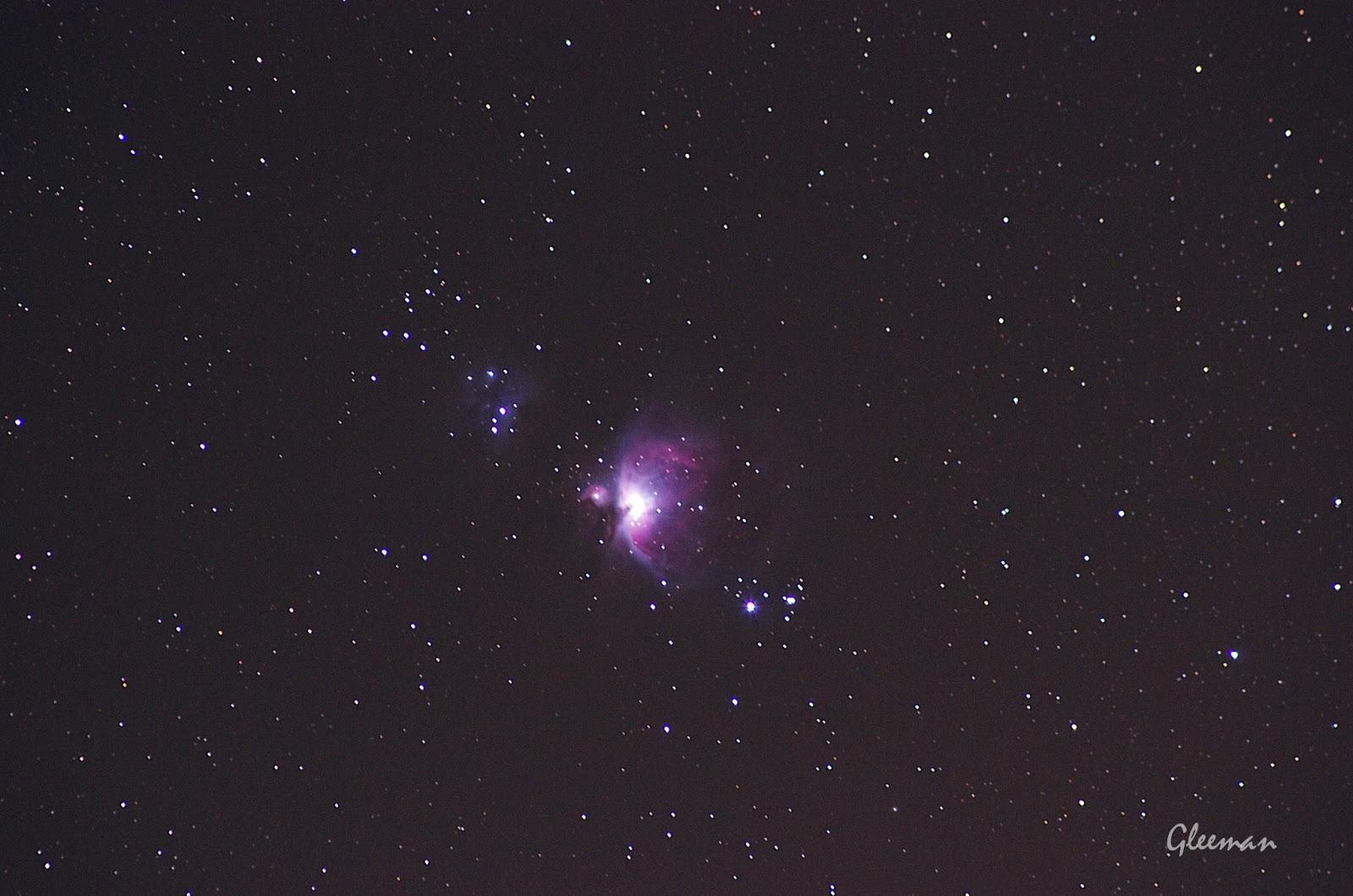 M42獵戶座大星雲 Pentax K5 + O-GPS1 + Tamron Adaptall-2 SP 300mm f/2.8 LD IF (60B) , ISO 1600, F2.8 40sec