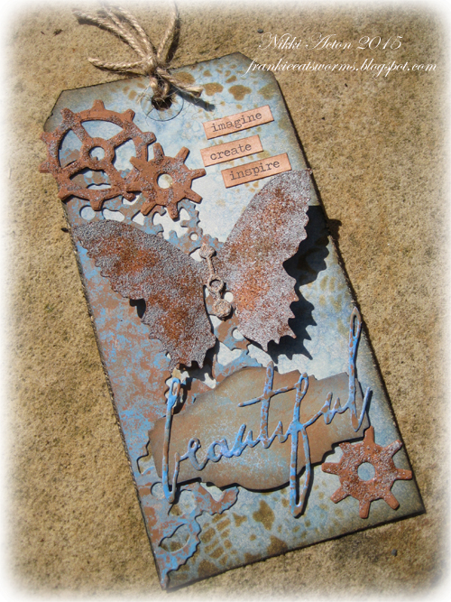 Tim Holtz Butterfly Duo Rusty Tag