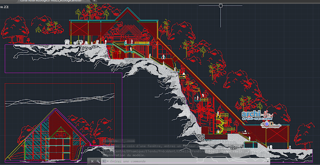 Ecological hotel in AutoCAD