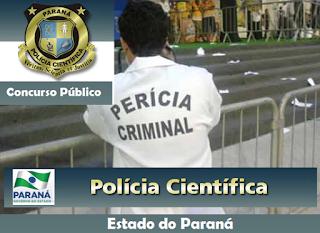 edital Concurso Polícia Científica do PR 2016, banca organizadora