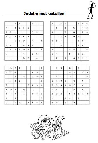 Kleurplaten Puzzel Moelik Gietjes Corner Een Sudoku Overzicht