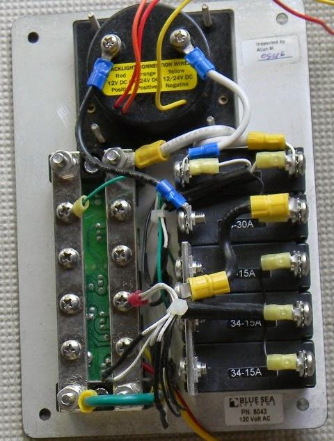 Ericson 25  Oystercatcher  Electrical  Ac Distribution