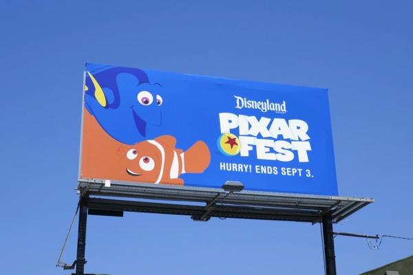 Disneyland Pixar Fest Finding Nemo billboard