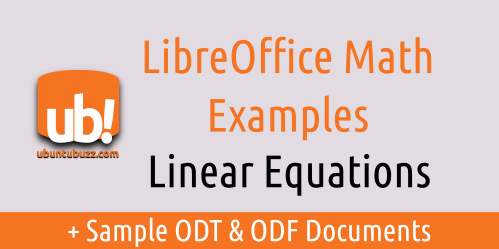 Libreoffice Math Linear Equation Examples