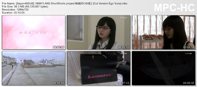 160911 AKB ShortShorts project Movie, Cut Version Ego Yuna (SUB INDO) [PaHe]