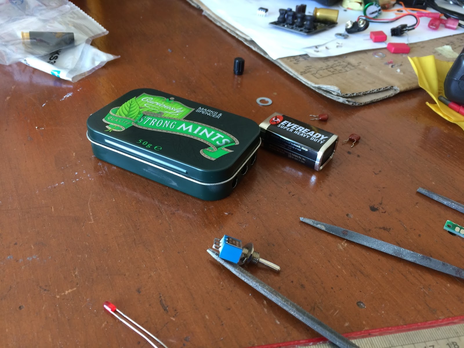 The Orronoco Audio Diy Building Another Cmoy Headphone Amplifier First Thing To Do Is Measure Tin Case And Follow By Pcb Along With Input Output Connectors This Step Quite Critical Due Every Layout Will
