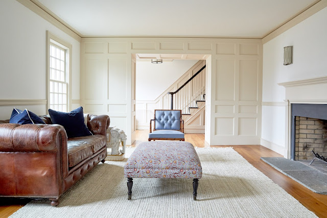 Before image of redesign of modern farmhouse living room by One Kings Lane - found on Hello Lovely Studio