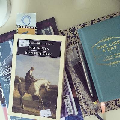 Mansfield Park by Jane Austen, Jane Austen, Mansfield Park, Book, Read, One Line A Day, Diary