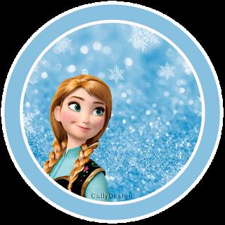 Toppers o Etiquetas de Frozen con Nieve  para imprimir gratis.
