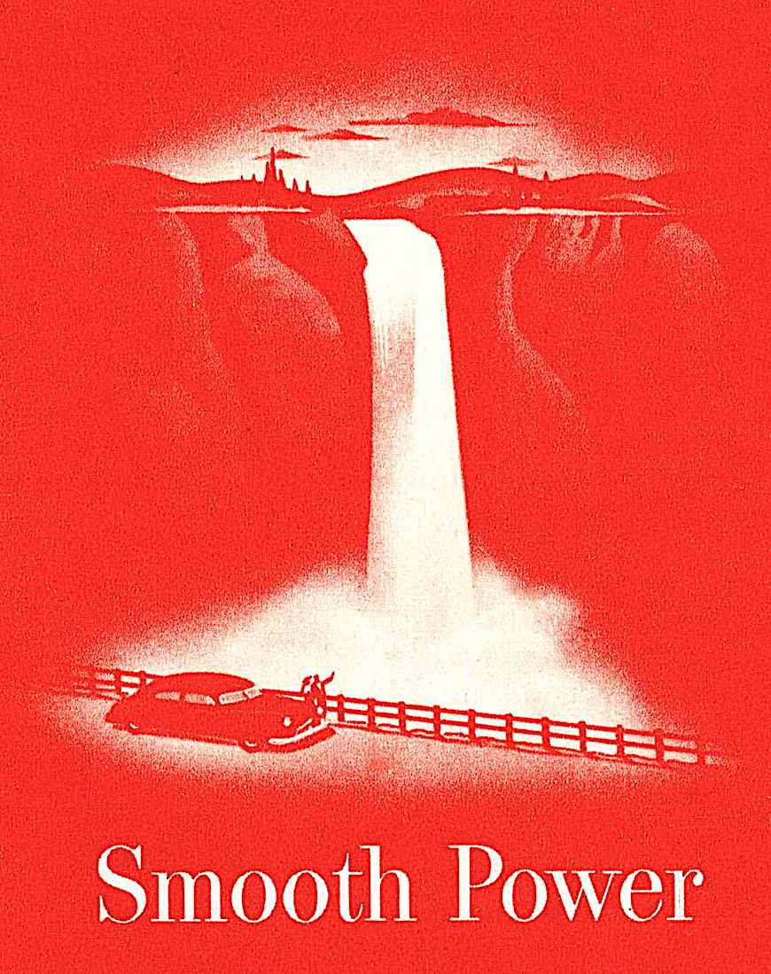 Smooth Power, a 1940s illustration all in red