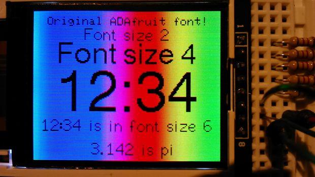 Font Library with Arduino TFT Display   Arduino Board, TFT, Esplora